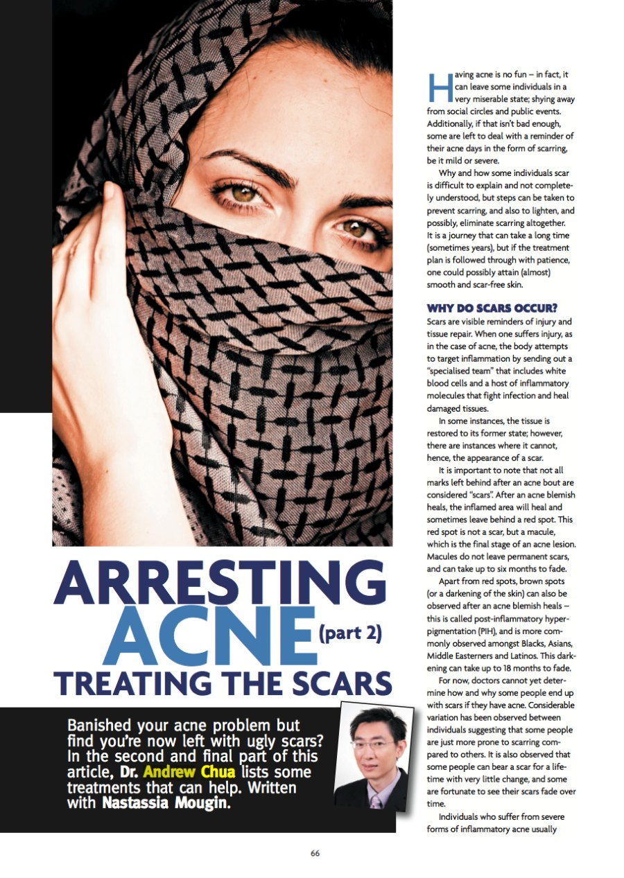 Arresting Acne, Cosmetic Surgery & Beauty, Issue 1, 2010.